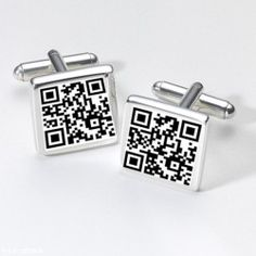 Personalised Secret Message QR Cuff Links For Men Birthday Wedding Gift Fathers Day Gifts, Valentine Day Gifts, Business Attire For Men, Bride And Groom Gifts, Elegant Man, Man Birthday, Tool Design, Personalized Gifts, Wedding Gifts