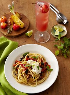 Veggies, Pasta & Punch, Oh My!