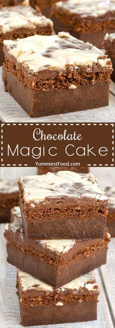 Chocolate Magic Cake with Chocolate Glaze and Swirl – moist, delicious, easy, nice and quick! This Chocolate Magic Cake with Chocolate Glaze and Swirl will be your ultimate dessert for every occasion!(Chocolate Glaze For Cookies) Cranberry Dessert, Köstliche Desserts, Delicious Desserts, Yummy Food, Quick Chocolate Desserts, Magic Chocolate Cake, Melting Chocolate Chips, Chocolate Glaze, White Chocolate