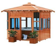 Hot tub gazebo--had one like this- let it go with the house when we sold it
