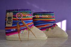 ETHNIC BOOTS WINTER Boots Beige Boots Women Boots por MISIGABRIELLA