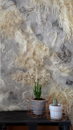 wandkleed viltkleed wandpaneel vilt wolvilt felted raw wool wall hanging: