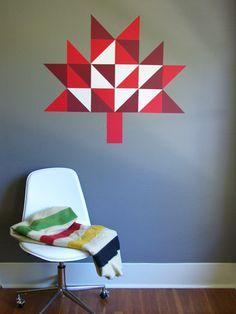 Giant Geometric Maple Leaf