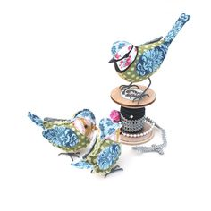 Fabric Bird BLUE TIT FAMILY by TheCottonPotter on Etsy, £80.00