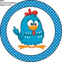 Montando minha festa: Kits para imprimir grátis da galinha pintadinha azul