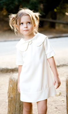 sweet little dress & love the messy hair
