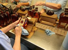 Labeling line at Four Roses.
