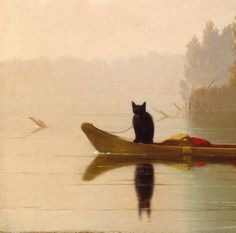 George Caleb Bingham - Fur Traders Descending the Missouri, 1845 [fragment]