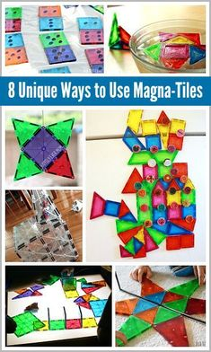 8 Unique Ways to Use Magna-Tiles: including STEM activities, engineering, math activities and more! Math Activities For Kids, Steam Activities, Preschool Science, Science For Kids, Learning Through Play, Kids Learning, Magna Tiles, Block Area, Creative Play