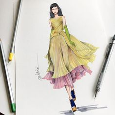 In love with this look from @rochasofficial by creative director @dellacqua  #sketch #sketching #paint #painting #fashion #fashionsketching #fashionsketch #fashiondrawing #fashiondraw #fashionillustrator #fashionillustration #fashionart #art #artwork #instaart #instaartist #illustration #illustrator #rochas #ss2017