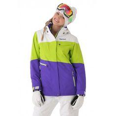 Marmot Women s Moonshot Jacket (Electric Blue Green Lime) a5cfb5f13e