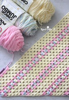 How to Crochet Corner-to-Corner using the Granny Stitch - Repeat Crafter Me