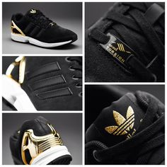 9d17e8011b5c adidas Originals Womens ZX Flux - Core Black   Core Black   Gold Met قیمت