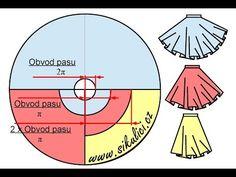 Kolová sukně - výroba střihu - YouTube