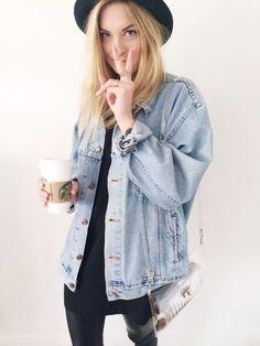 Jaquetas oversized estão super em alta, eu simplesmente amo! ♥️