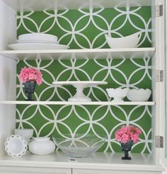Stenciling: How-To, including this project on how to stencil a cabinet by Burlap and Blue!