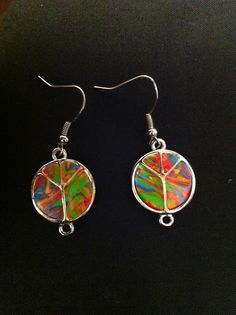 Carnival Peace Earrings. SOLD