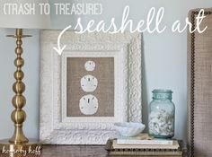 DIY Seashell Art - House by Hoff