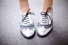 Silver oxfords