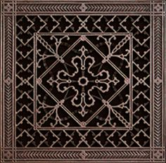 "Beaux-Arts Classic Products Arts and Crafts style decorative grille 12"" x 12"" in Rubbed Bronze.  Available in 46 sizes and 14 finishes."