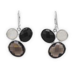Faceted Multistone Drop Earrings