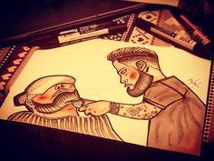 #barbertattoo#tattoo#traditionaltattoo#flashtatooflashtattoopoland#first#flash#tattoo#ok?