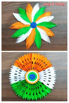 Republic Day Craft Ideas/DIY Tricolour Paper Wall Hanging/Republic Day Project Work /Indian Flag This is a beautiful Tricolour paper decoration idea. Independence Day Theme, Independence Day Activities, Happy Independence Day India, Independence Day Decoration, Paper Flowers Craft, Paper Crafts Origami, Creative Crafts, Diy Crafts, Rakhi Making