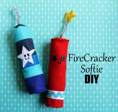 punk projects: FireCracker Softies DIY  might put some catnip in some of these... make them pet toys :)