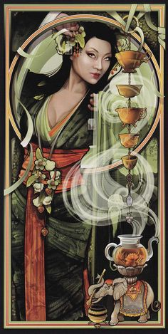 """Tea"" by illustrator Echo Chernik"