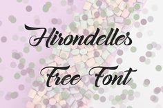 DLOLLEYS HELP: Hirondelles Free Font