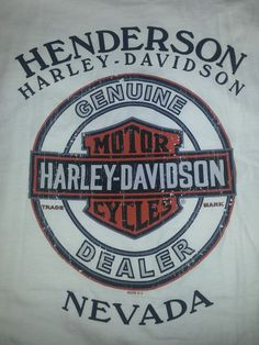 Harley Davidson Motorcycles Men's T-shirt L White Henderson NV Great Shape #HarleyDavidson #BasicTee