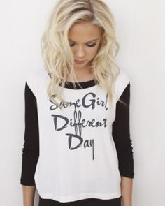 """Clothes ~ Tops ~ Jordyn's """" Same Girl, Different Day"""" Top"""