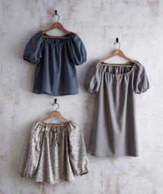 Kleid und Bluse mit gerafftem Ausschnitt - Nähtalente