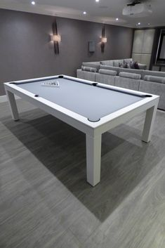 Contemporary Pool Table Contemporary Pool Table, Wood Colour Oak with Simonis Grey Cloth