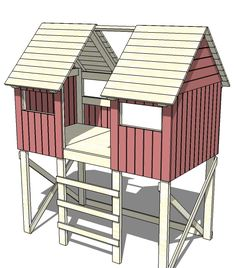@Chris Eaton - I think we could modify this to make it an AWESOME beach style tree house. What do you think? Beach Hut Bed
