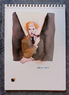 EVELYN WAUGH, di Paola Monasterolo. QUEER PORTRAITS, 25. - feat. Federico Boccaccini www.federiconovaro.eu