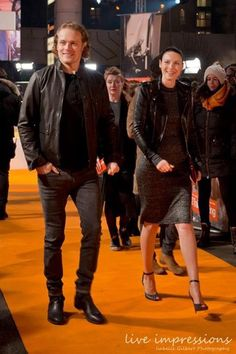 "jamesandclairefraser: ""@i_gilbert: @SamHeughan and @caitrionambalfe at the #T2trainspotting world premiere in Edinburgh #Outlander """