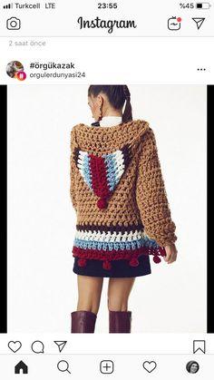 Fabulous Crochet a Little Black Crochet Dress Ideas. Georgeous Crochet a Little Black Crochet Dress Ideas. Black Crochet Dress, Crochet Coat, Crochet Jacket, Crochet Cardigan, Crochet Clothes, Crochet Dresses, Mode Crochet, Easy Crochet, Crochet Designs