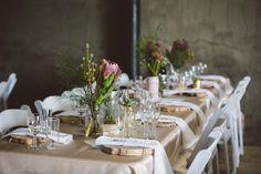 How to style a barn wedding venue Barn Wedding Venue, Farm Wedding, Ireland Wedding, Wedding Decorations, Table Decorations, Wedding Table Settings, Reception Table, Wedding Inspiration, Wedding Ideas