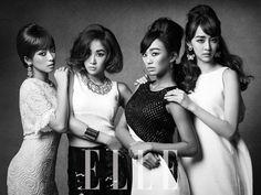 SISTAR flaunts stunning 1960s beauty for 'ELLE' ~ Latest K-pop News - K-pop News | Daily K Pop News