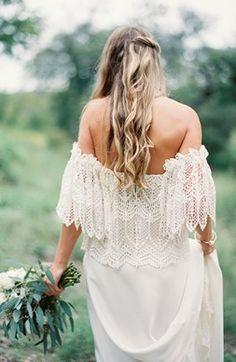 Свадьба в стиле бохо невеста
