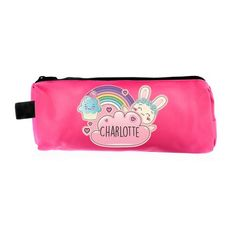 Personalised Pink Pencil Case - Bunny