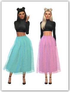 Marigold's Voluminous Lorn Flare Skirt Recolors at Maimouth Sims4 • Sims 4 Updates