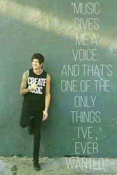 Austin Carlile - Music gives me a voice, and that's one of the only things I've ever wanted. #OM&M #OfMice&Men