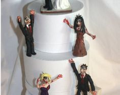 Zombie, Attack of the Zombies by, Personalized, Custom, Wedding Cake Topper Figurines of entire wedding party?