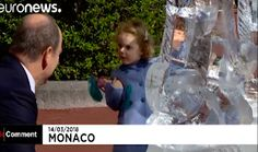 The Royal Children: Monaco PF: Prince Jacques and Princess Gabriella on their father's 60th birthday celebrations