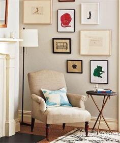 Tips for arranging artwork in a gallery wall.