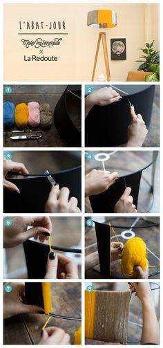 Un abat jour simple à réaliser pour colorer votre intérieur ! DIY by Make My Lemonade pour La Redoute Plus