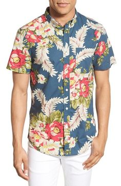 1901 'Pacific' Extra Trim Fit Short Sleeve Woven Shirt