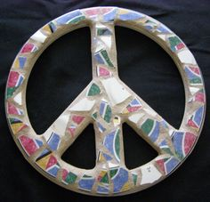 Rainbow Pottery Peace Sign Peace Sign Wall Art by breakitupdesigns, $26.00